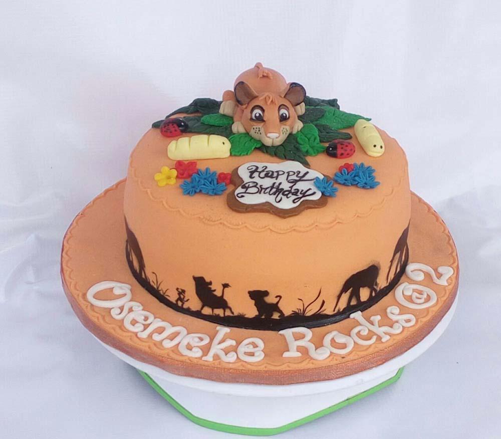 Marvelous Simba Lion King Birthday Cake Ko Cakes Confectionery Funny Birthday Cards Online Bapapcheapnameinfo