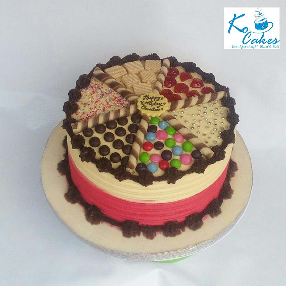 Pleasing Skittles And Cherries Birthday Cake Ko Cakes Confectionery Funny Birthday Cards Online Barepcheapnameinfo