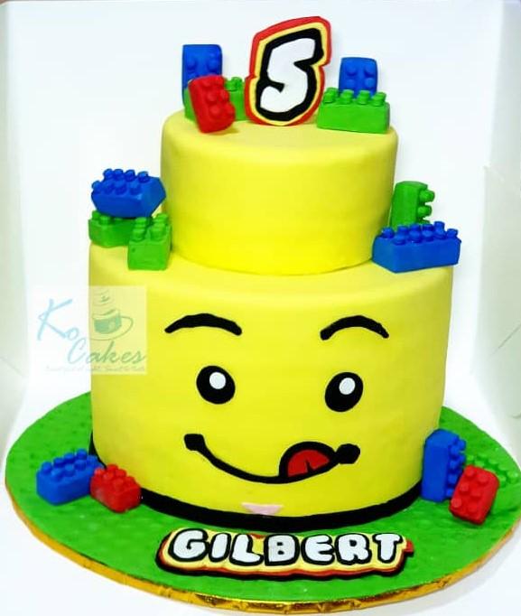 Fantastic Lego Birthday Cake Ko Cakes Confectionery Personalised Birthday Cards Veneteletsinfo